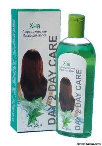 Аюрведическое масло для волос Дэй Ту Дэй Кер(Хна) (Ayurvedic Hair Oil Day 2 Day Care Henna)Восстанавливающее масло для волос