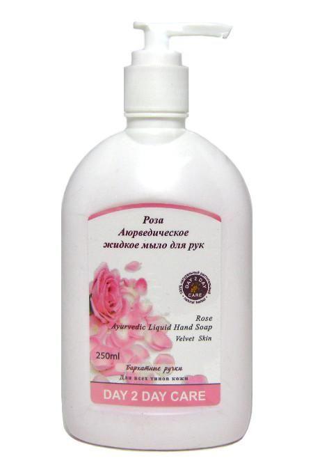 Аюрведическое жидкое мыло Роза 250 мл.