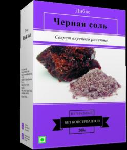 Divye spaices, Черная соль 200 г, не вызывает удержания в организме воды